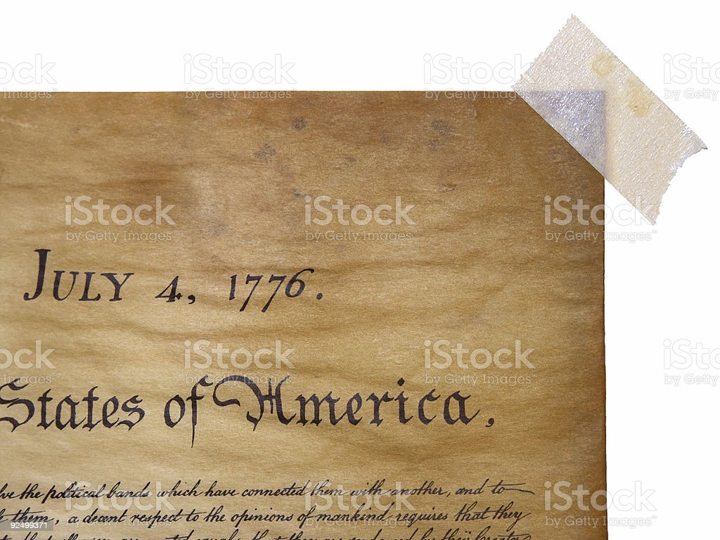 The Declaration Of Independence - Grunge Style royalty-free stock photo