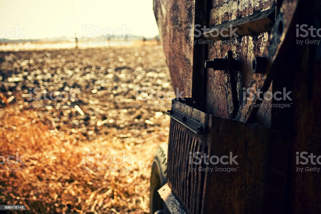 The Decline of the Agriculture Industry in the American Midwest stock photo