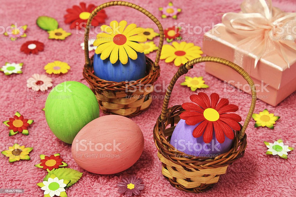 The decorated eggs royalty-free stock photo