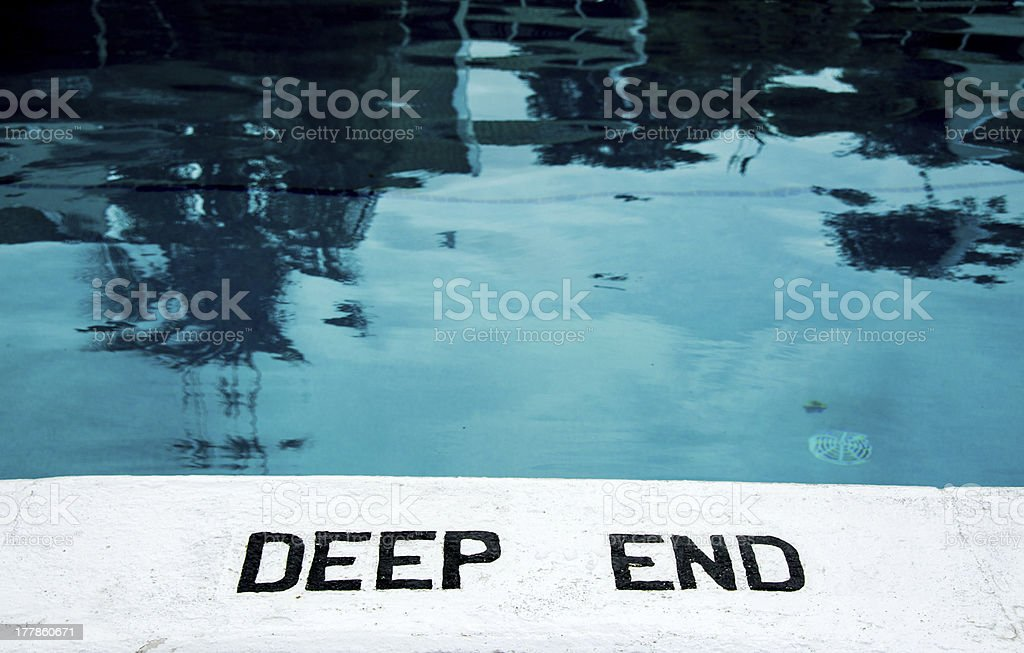 The deep end stock photo