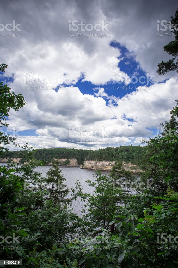 The Dells of the Wisconsin River stock photo