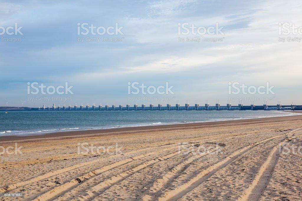 The delta bridge stock photo