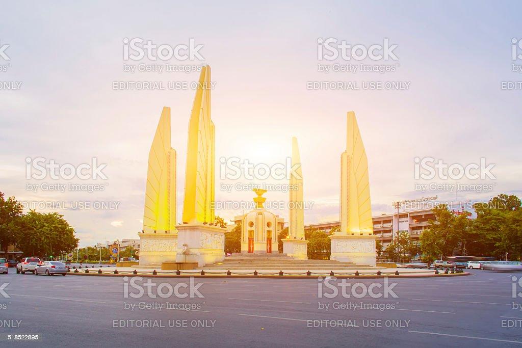 The Democracy Monument, Bangkok, Thailand stock photo