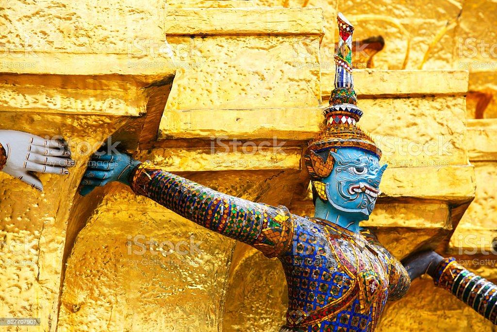 The demon guardian in the grand palace, Bangkok stock photo