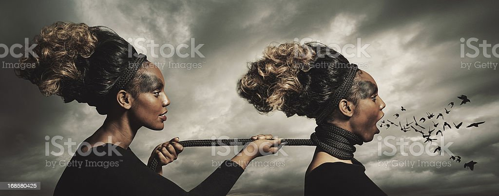 The Demons Within royalty-free stock photo