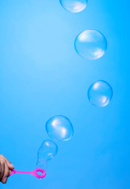 The depiction of air bubbles stock photo