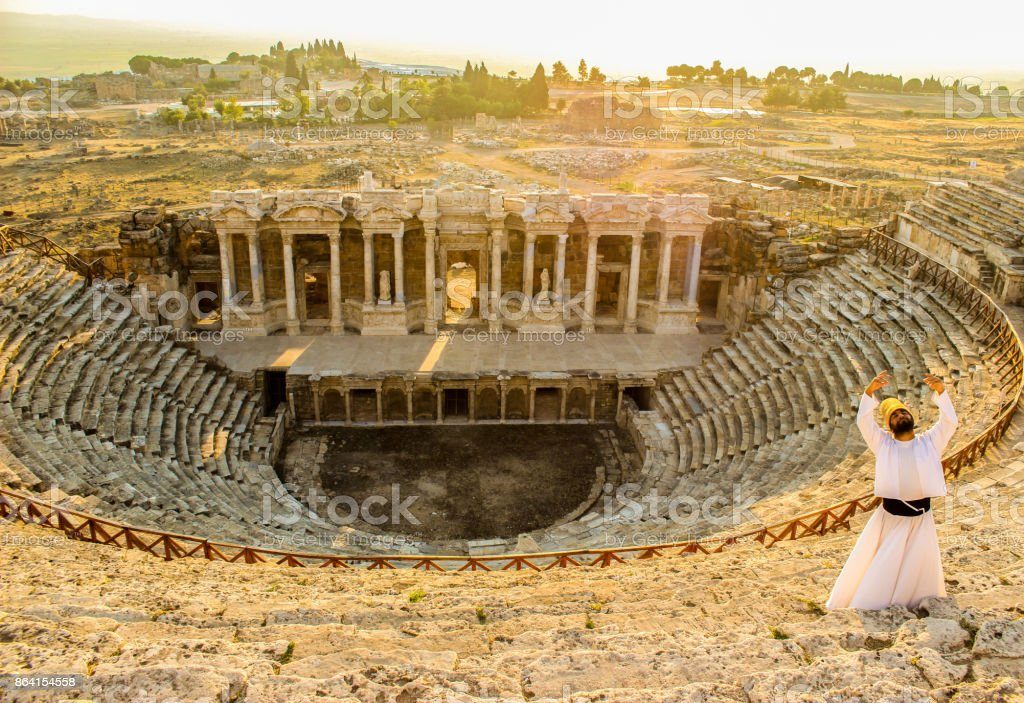 The depts of history...Hierapolis royalty-free stock photo