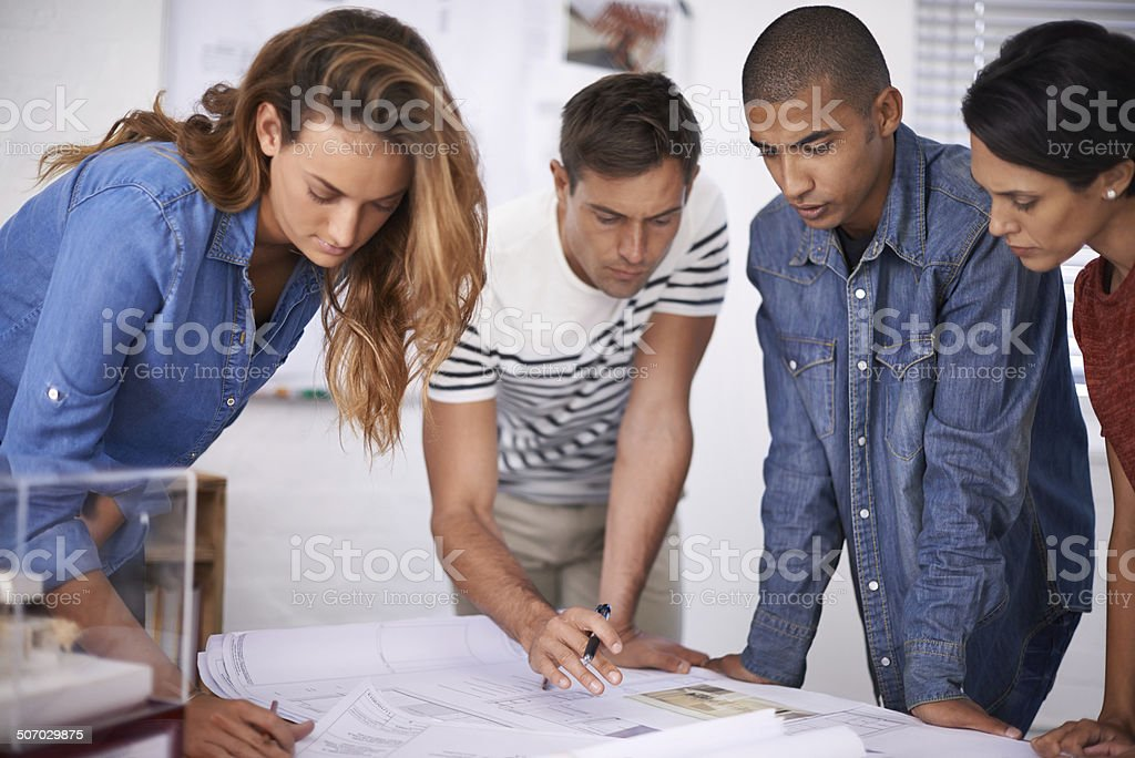 The design is really coming together royalty-free stock photo