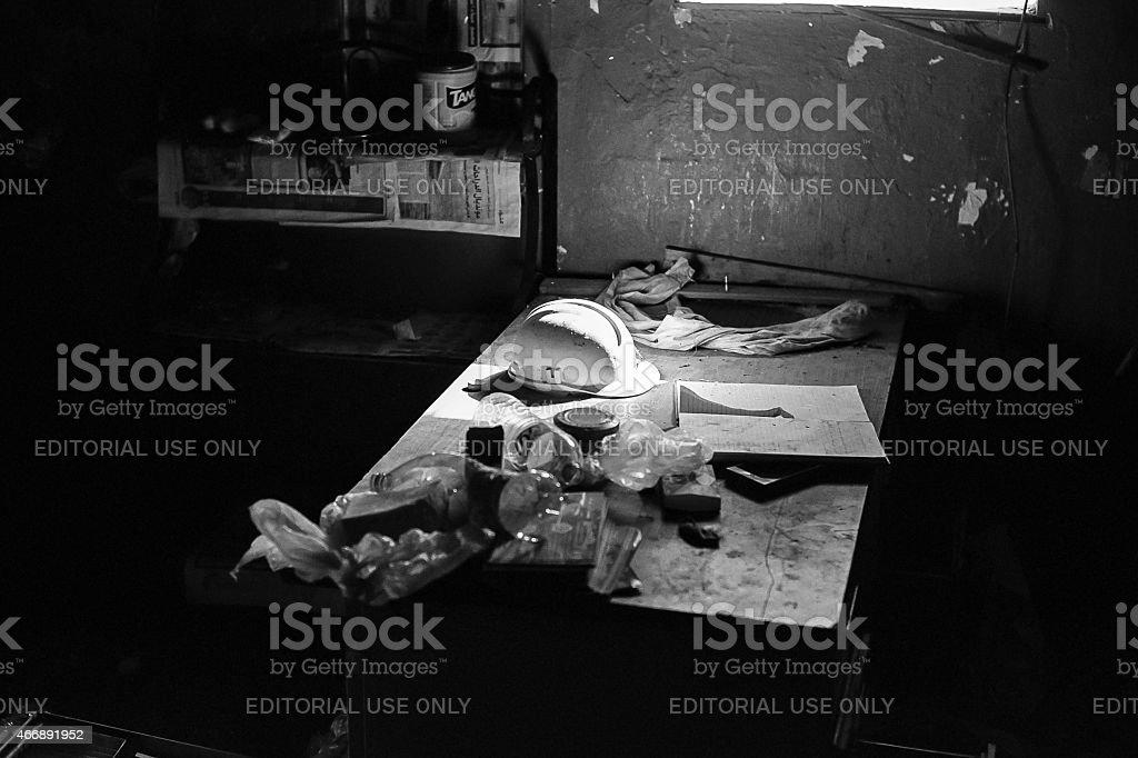The desk stock photo