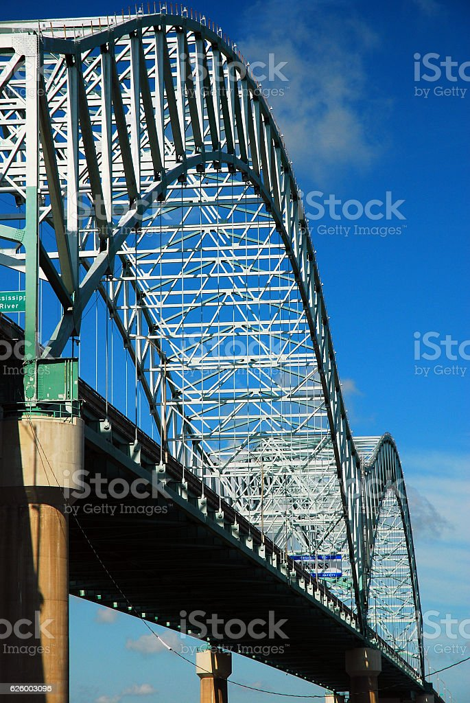 The DeSoto Bridge over the Mississippi River stock photo
