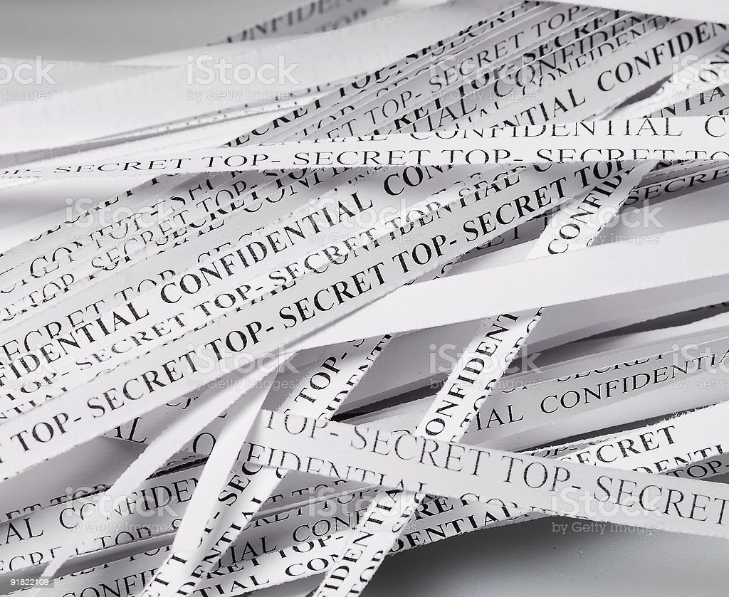 The destroyed document royalty-free stock photo