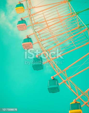 The details of the Ferris wheel on a sunny day at amusement park,Nanchang city, Jiangxi province,Beijing city , Shanghai city in China