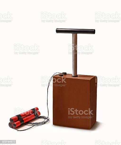 Dynamite stick and detonator kit.