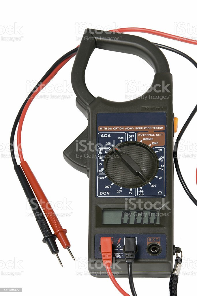 The device a multimeter isolated on white background royalty-free stock photo