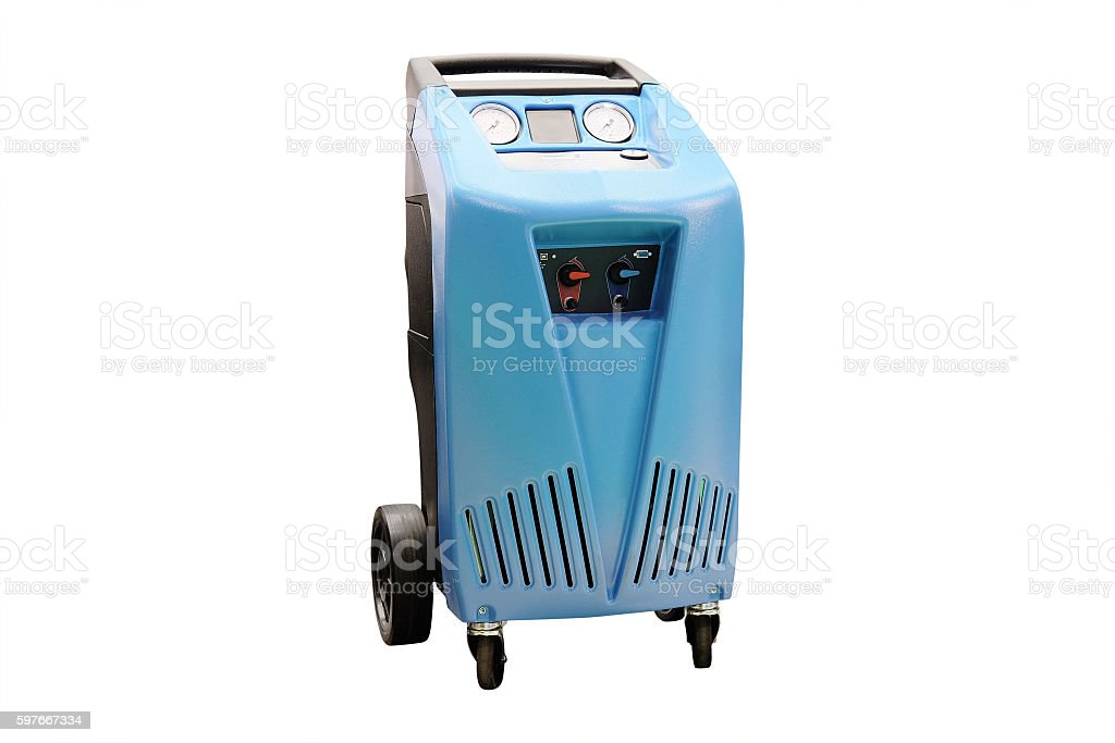 The device for air-conditioner check stock photo