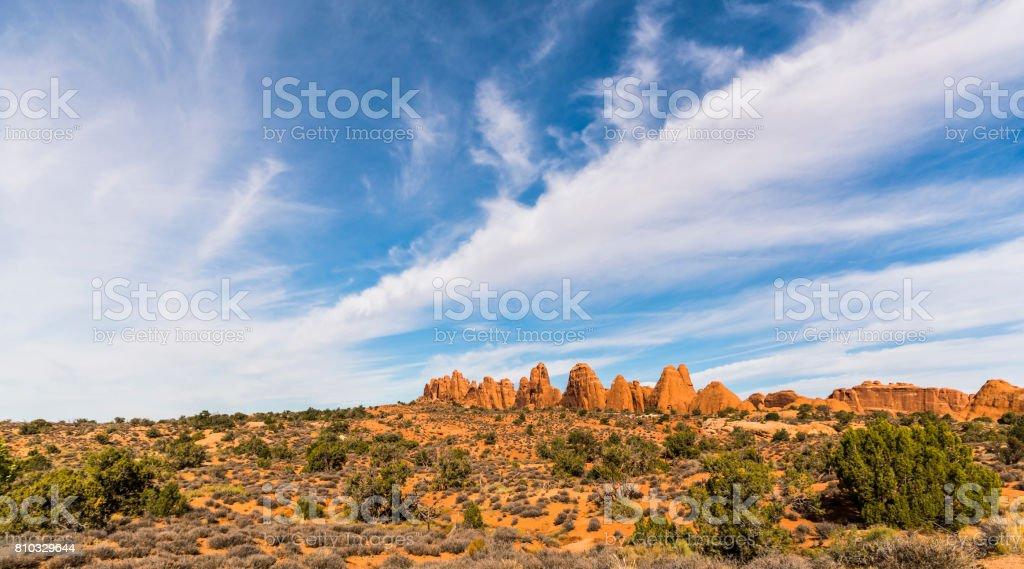 The Devils Garden, Arches National Park, Utah stock photo