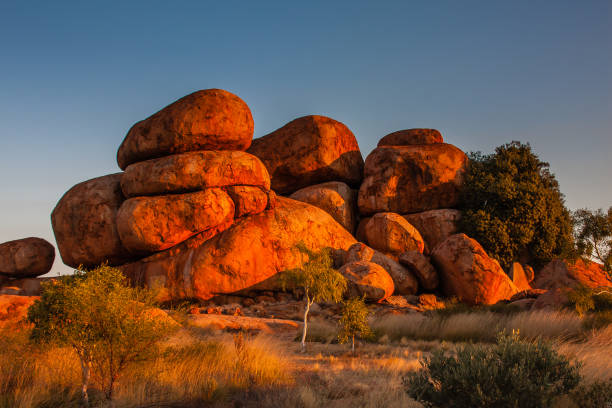 The Devils Marbles Conservation Reserve, Northern Territory, Australia stock photo