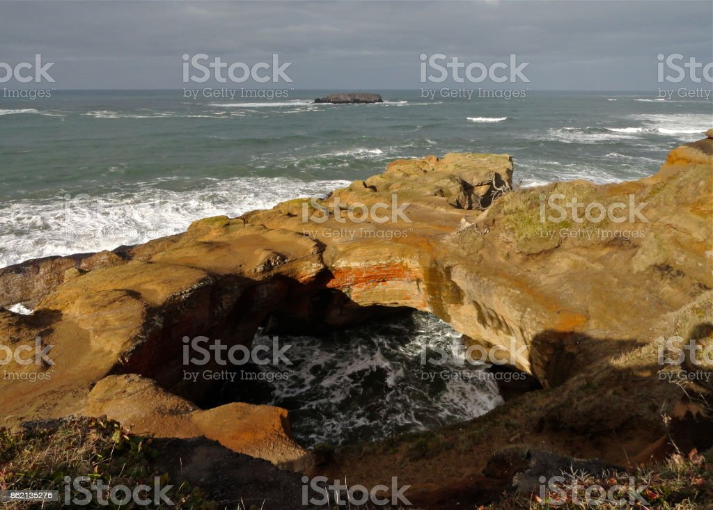 The Devil's Punchbowl stock photo