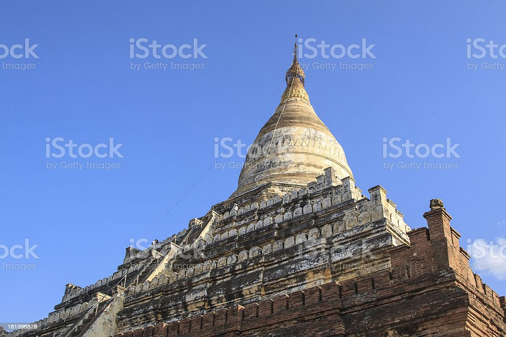 The Dhammayazika Pagoda, located east of Bagan stock photo