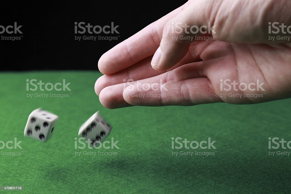 The die has been cast stock photo
