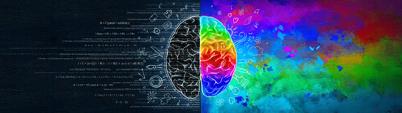 istock The Difference in the Work of the Right and Left Hemispheres of the Brain. Analytical Thinking Versus Abstract. 1208547781
