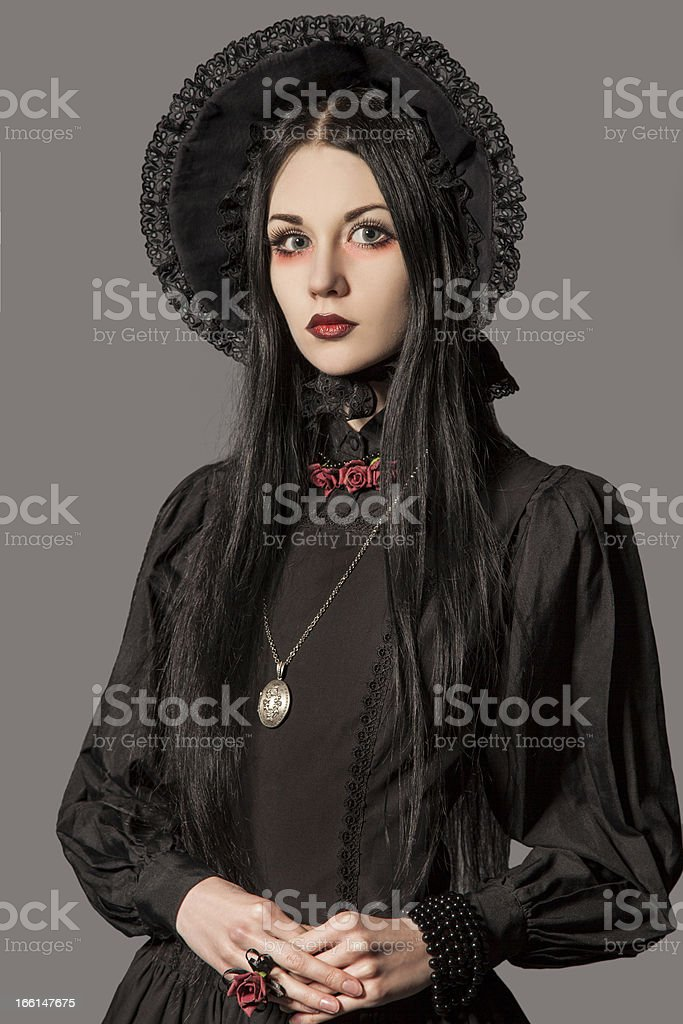 The different gothic female retro style - (Series) royalty-free stock photo