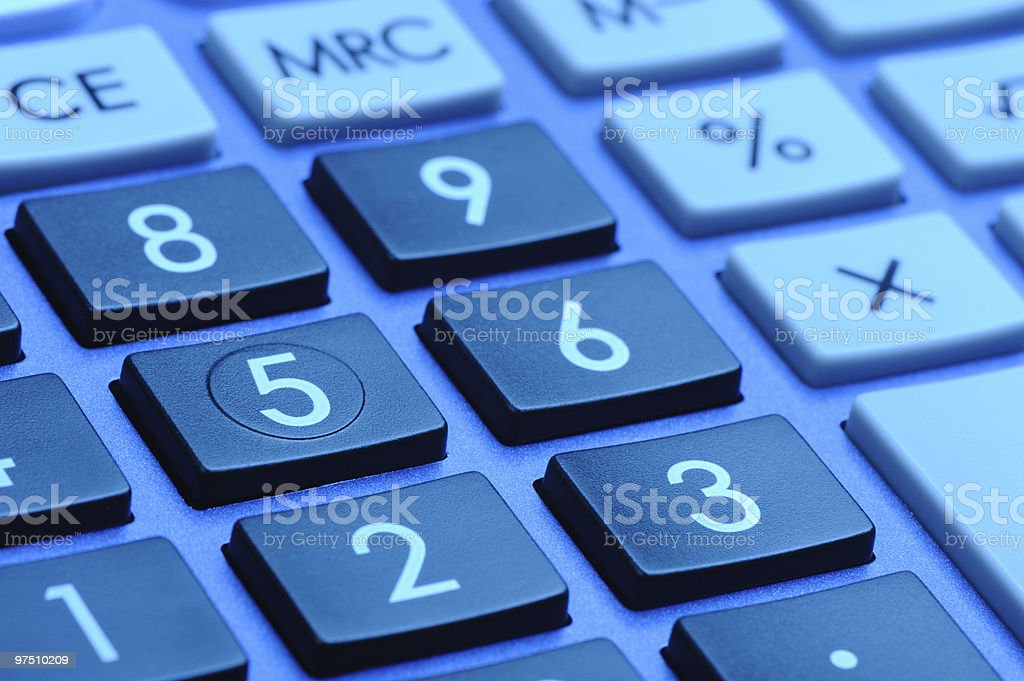 The digital keyboard stock photo