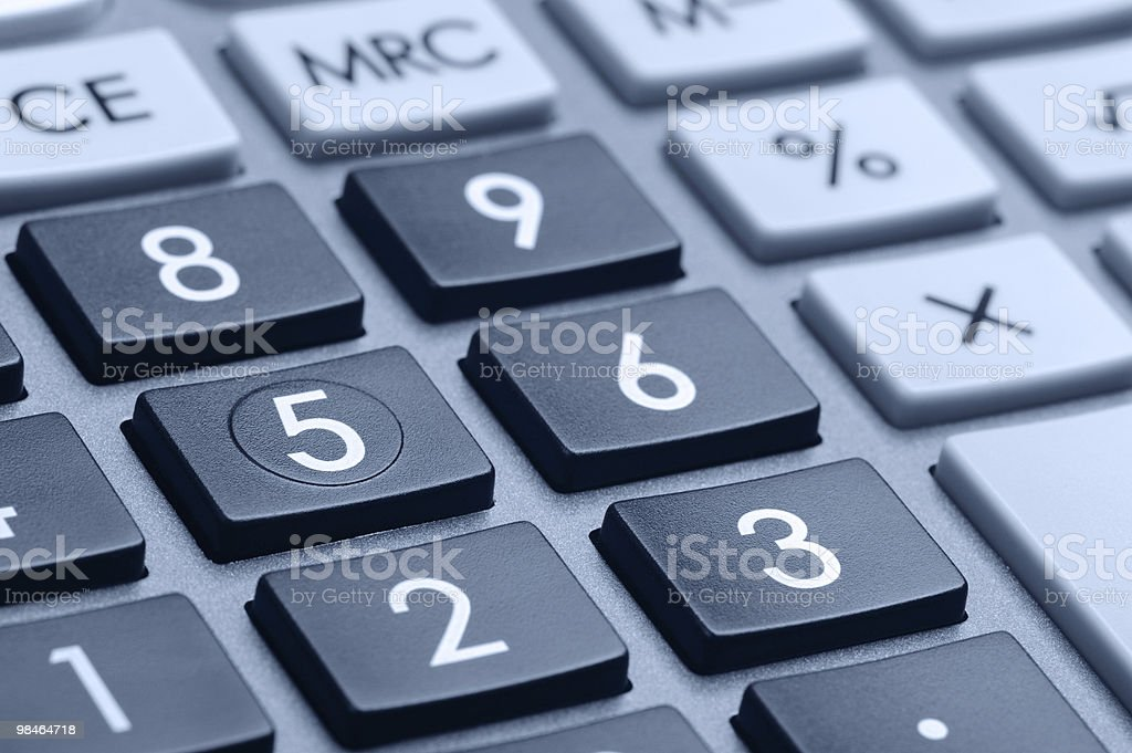 The digital keyboard royalty-free stock photo