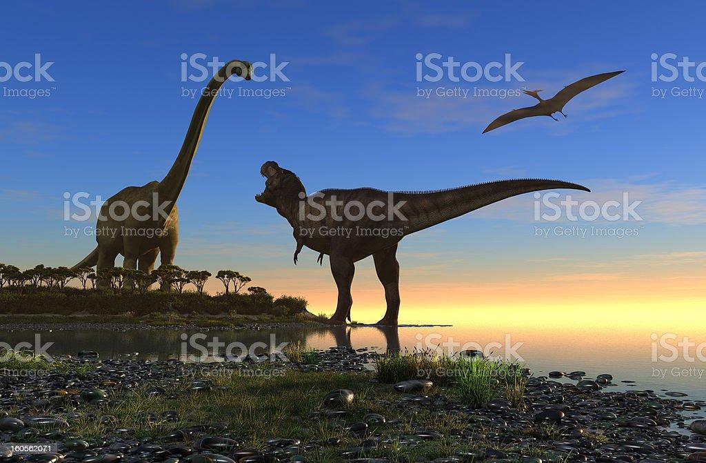 The dinosaur royalty-free stock photo