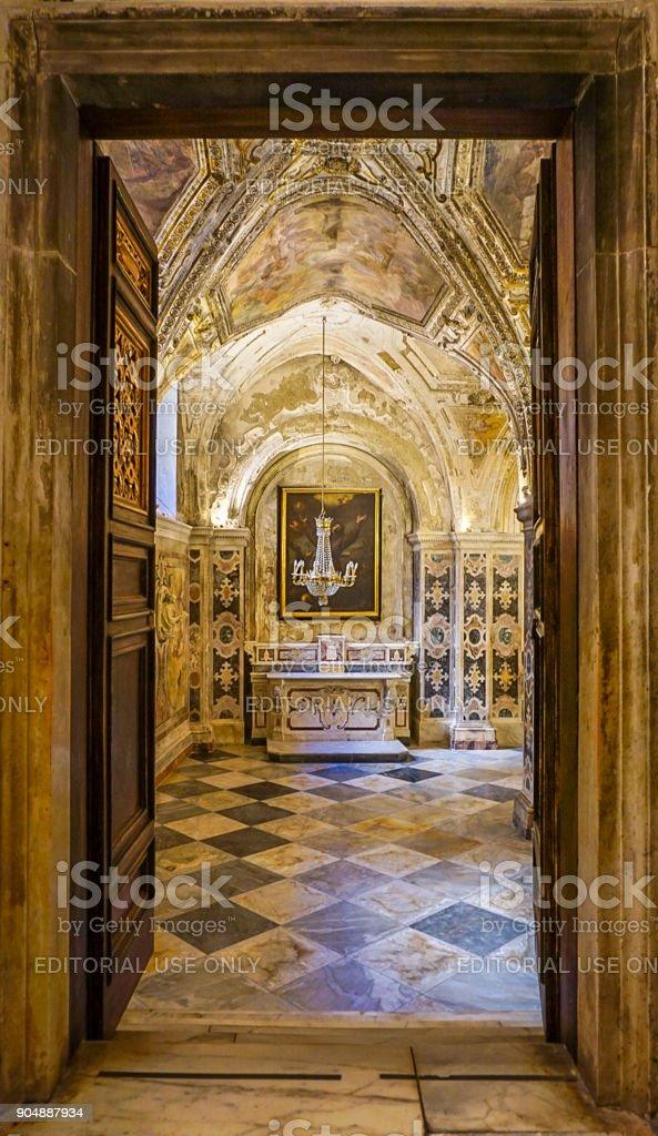 the Diocesan Museum of Amalfi (Museo Diocesano di Amalfi) in Italy stock photo