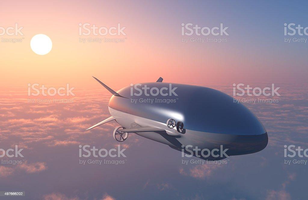 The dirigible stock photo