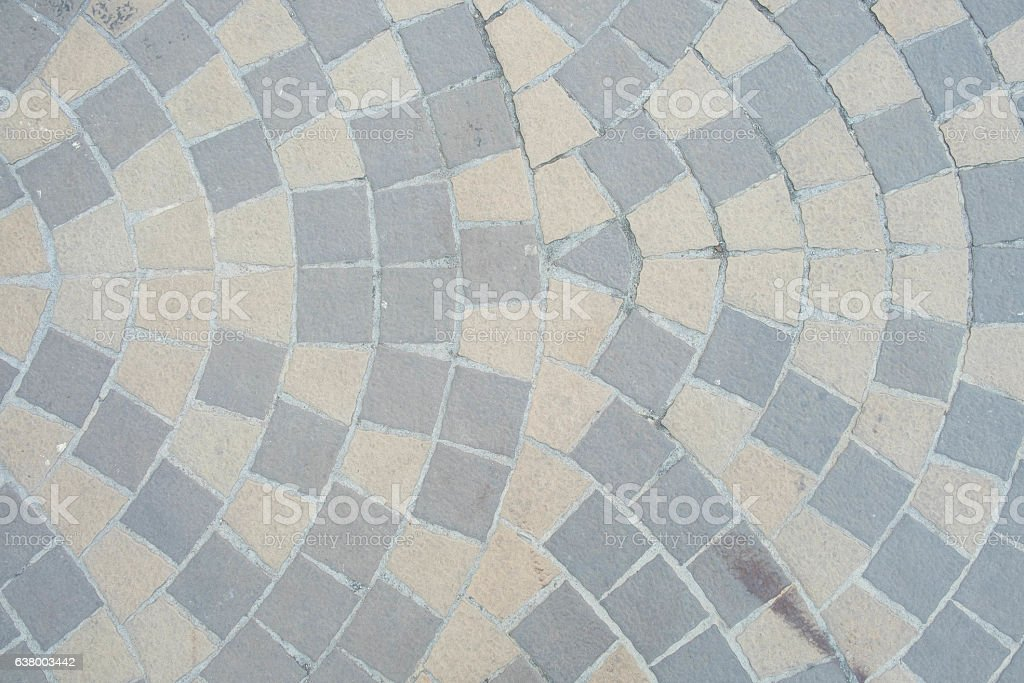 the dirty and old Tiled floor stock photo