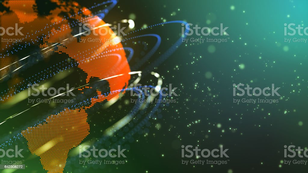 The discovery of new planets. stock photo