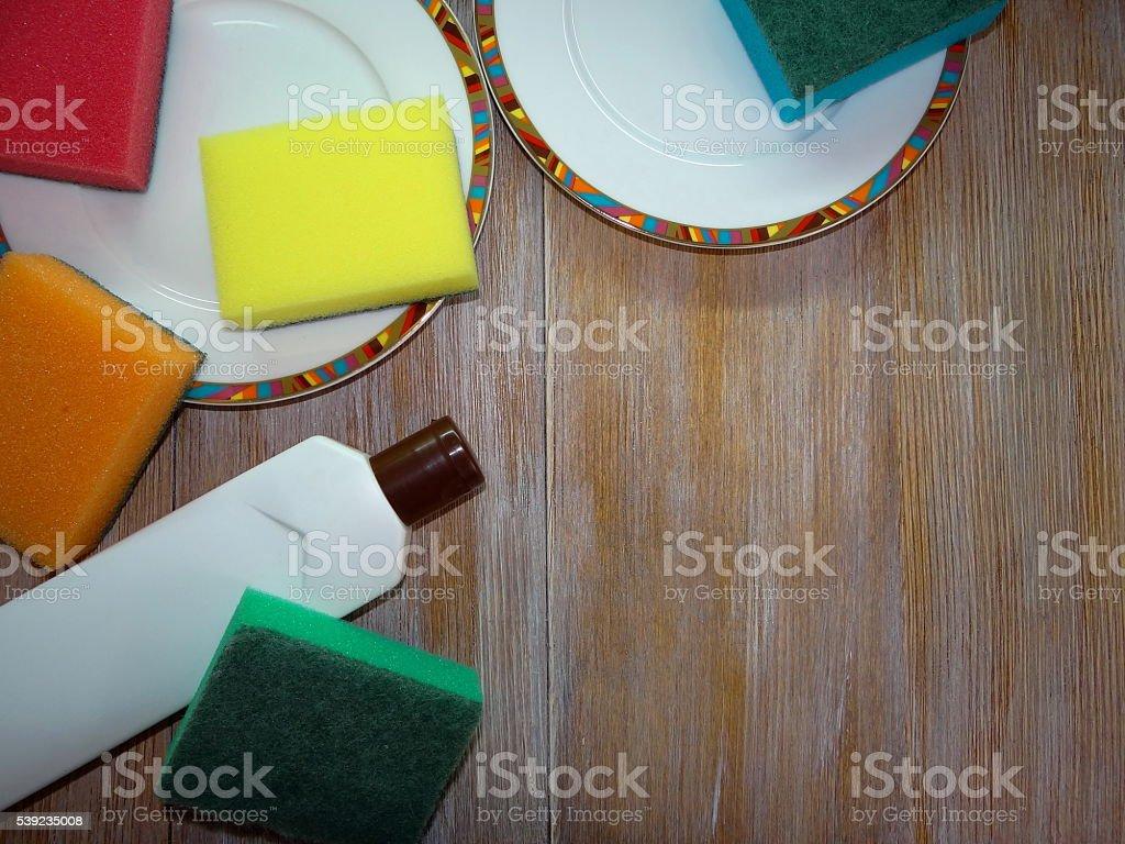 the dishwashing detergent royalty-free stock photo