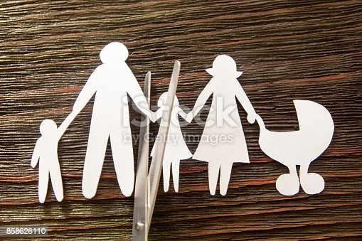 1166996797 istock photo The disintegration of the family. Divorce. Section children. 858626110