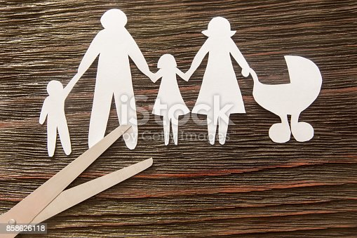 1166996797 istock photo The disintegration of the family. Divorce. Section children. 858626118