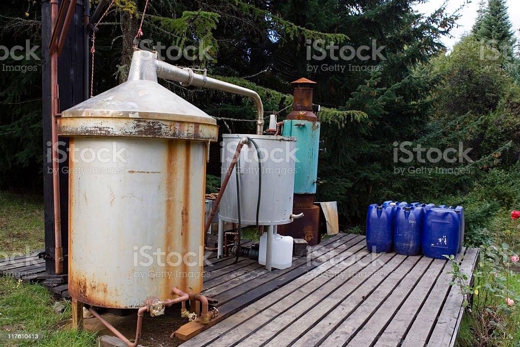 La destilería - foto de stock