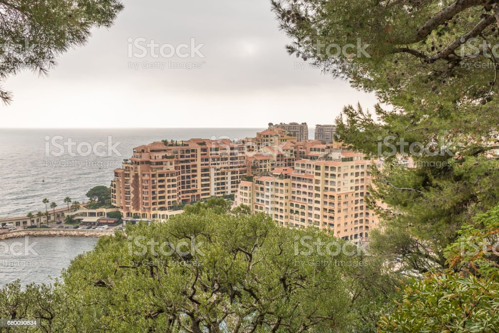 The district of Fontvieille from Rocher stock photo