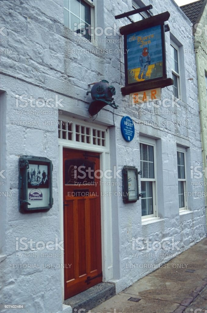 'The Divers Inn', Alderney stock photo