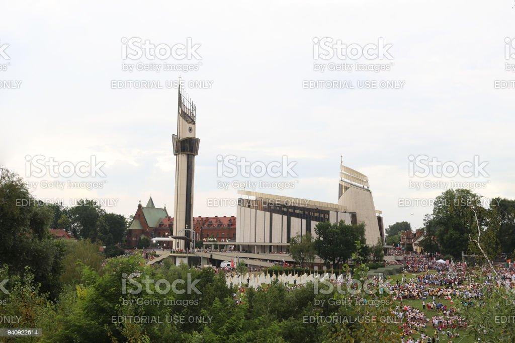 The Divine Mercy Sanctuary stock photo