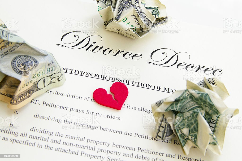 The divorce royalty-free stock photo