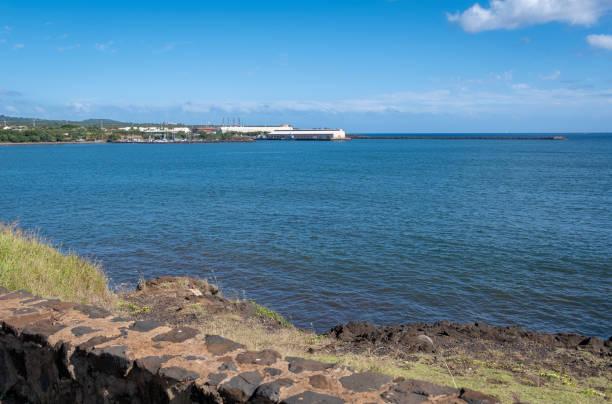 The Dock at Port Allen on Kauai stock photo