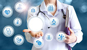 istock The doctor offers to check the health of. 646673922
