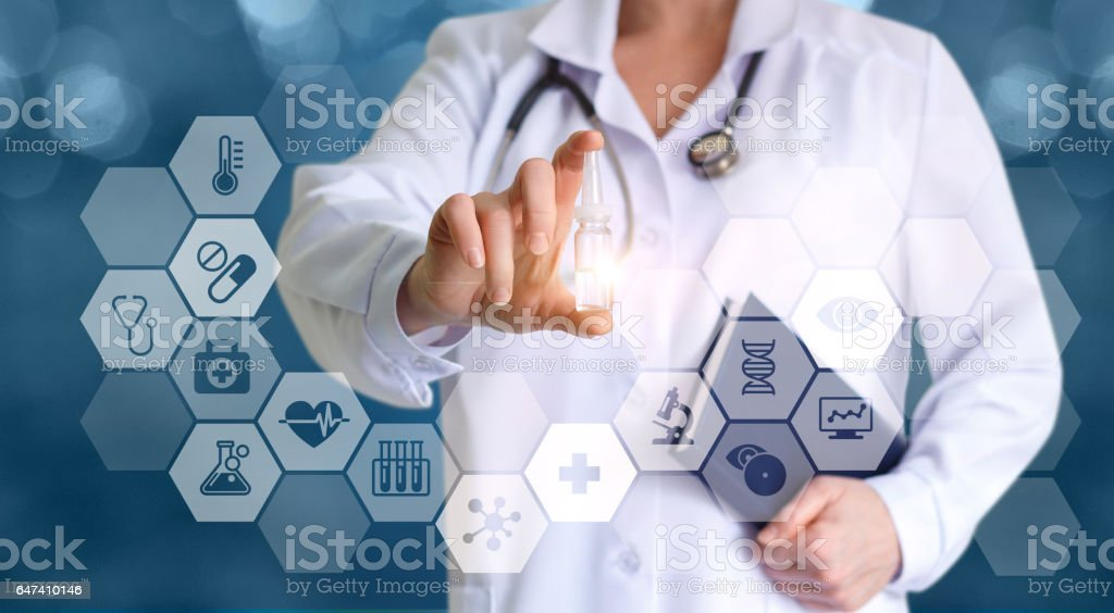 The doctor prescribed medication after the test. stock photo