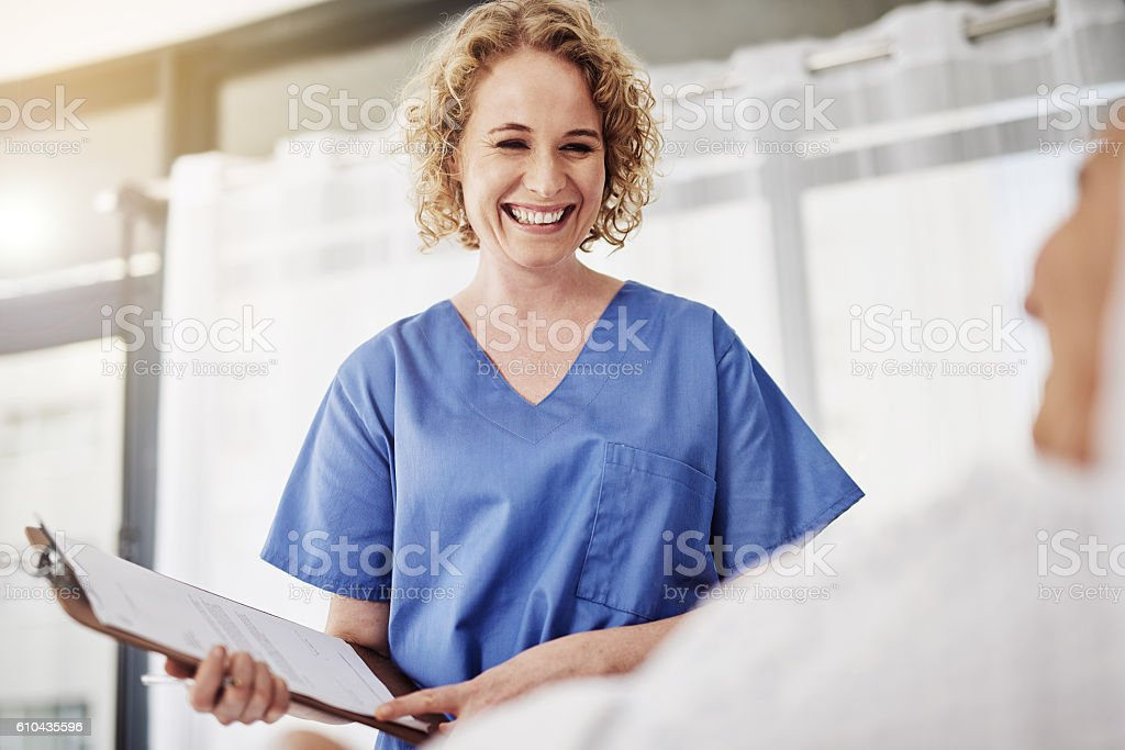 The doctor's given you the all clear stock photo