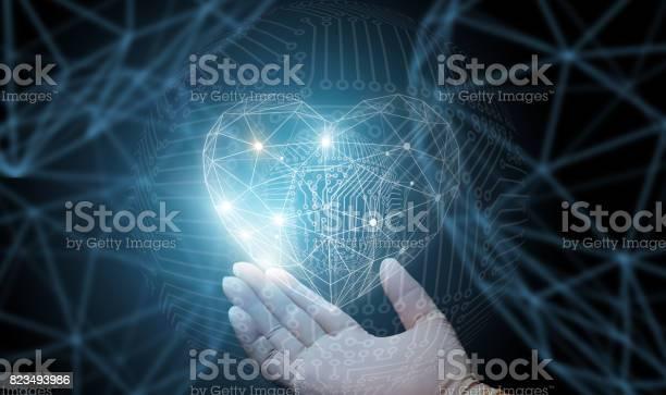 Der Arzt Zeigt Abstrakte Herzen Stockfoto und mehr Bilder von Abstrakt
