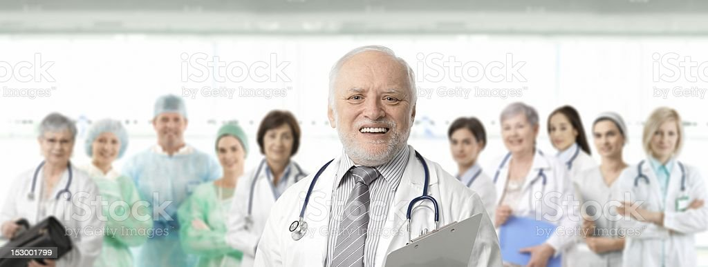 The doctors posing for the yearly photo stock photo