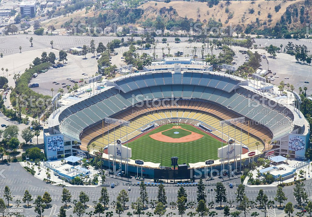 The Dodger Stadium stock photo