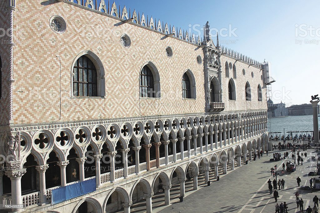 The Doges Palace in Venice royalty-free stock photo