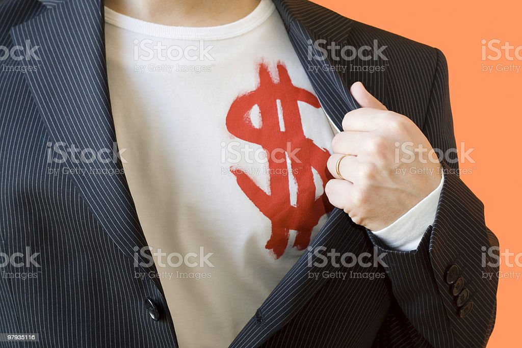 The dollar man royalty-free stock photo